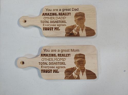 Mom or Dad Cutting Board