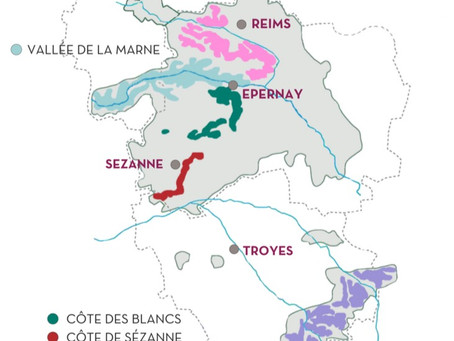 The Five Sub-Regions of Champagne