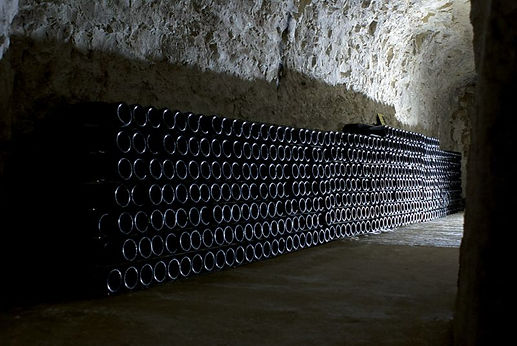 Bottle ageing champagnes, a bottle cellar of a supplier to Dawe Wines.