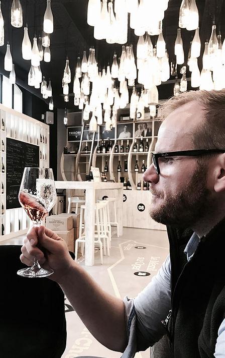 Jamie Dawe founder of Dawe Wines.  A Bath based wine and champagne merchant.
