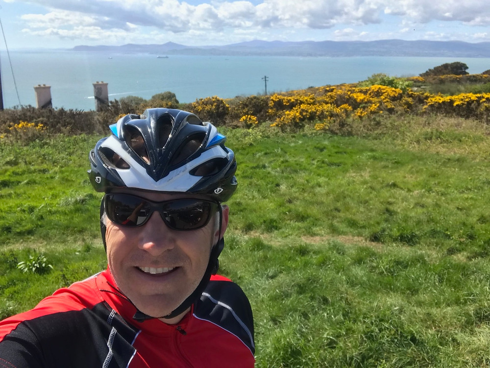 Scott McIness cycling in North Dublin