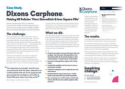 Inspiring Change - Case Study - Dixons C