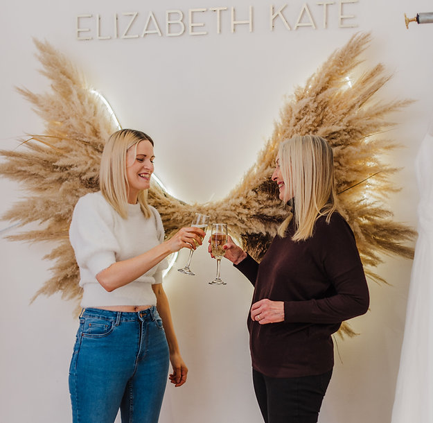 Pampas grass angel wings only at Elizabeth Kate bridal Crowle