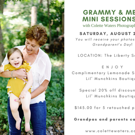 Grammy and Me Mini Sessions