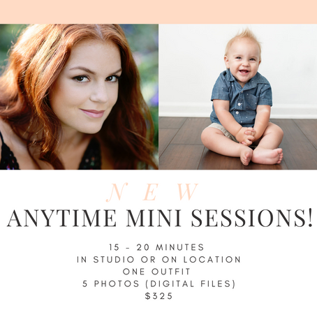 new anytime mini sessions!