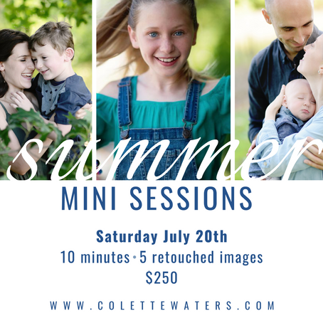 announcing: summer mini sessions!