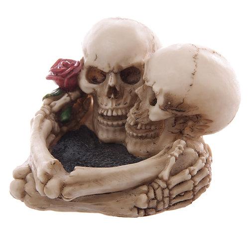 Fantasy Skull Lovers Ashtray