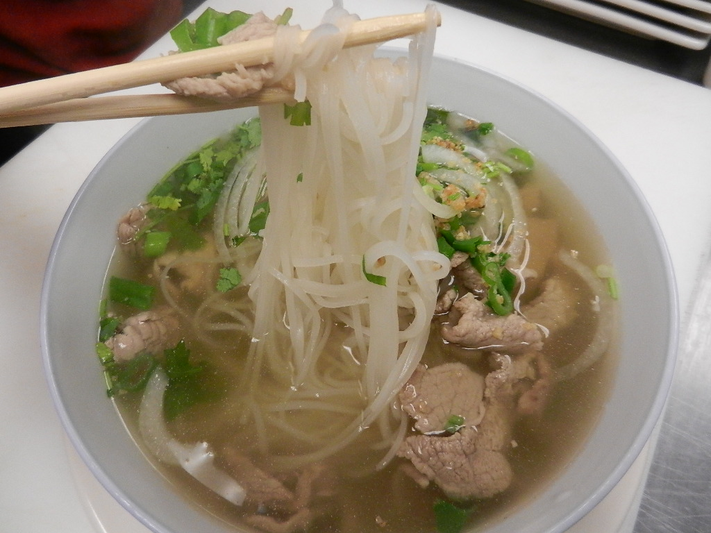 Pho with Thinly Sliced Beef