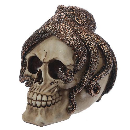 Fantasy Skull with Octopus Head Ornament