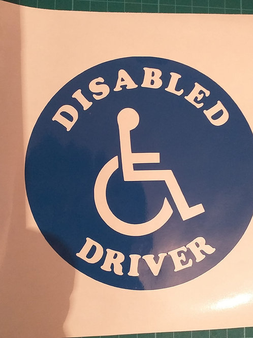 Disabled Driver Decal.