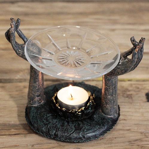 Antique Buddha - Om Hands Oil Burner