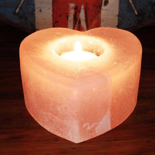 Salt Candle Holder - Heart