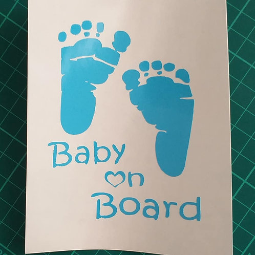 Baby on Board (foot print)