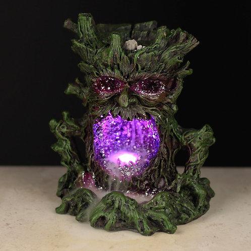 Crystal Green Man LED Backflow Incense Burner