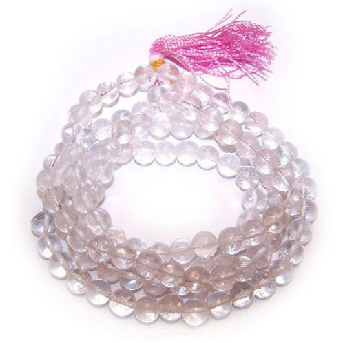 Rock Crystal Mala Beads