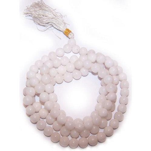 White Quartz Mala Beads