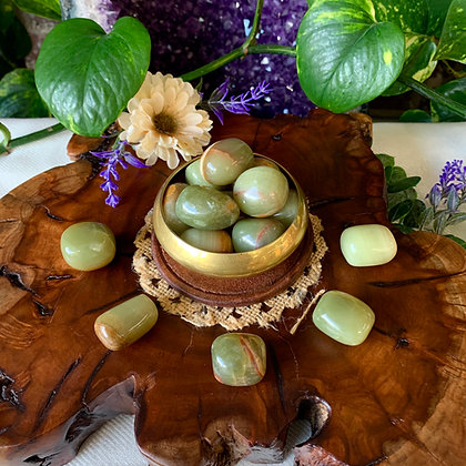 Green Onyx Tumbled Stones