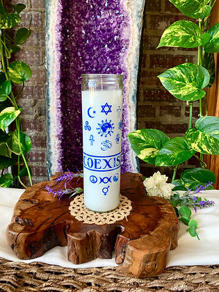 Coexist Seven Day Candle (White)