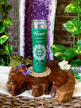Heart Chakra Seven Day Candle (Green)