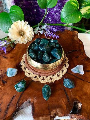 Moss Agate Tumbled Stones