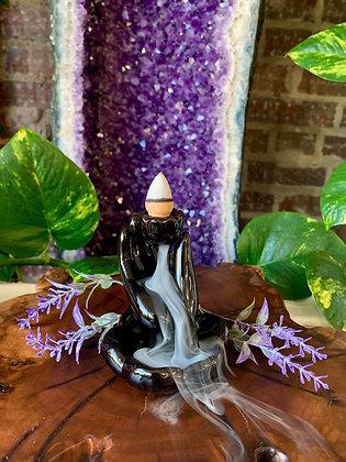 Mudra Hand Ceramic Backflow Incense Burner