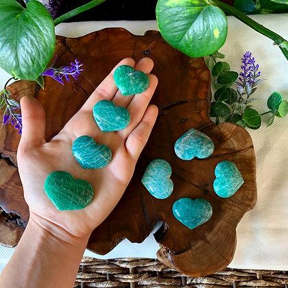 Amazonite Heart Shaped Crystals
