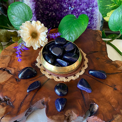 Purple Goldstone Tumbled Stones