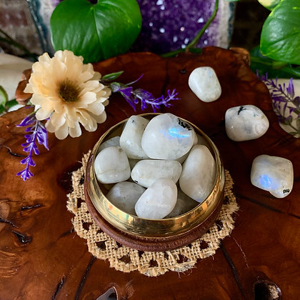 Rainbow Moonstone Tumbled Stones