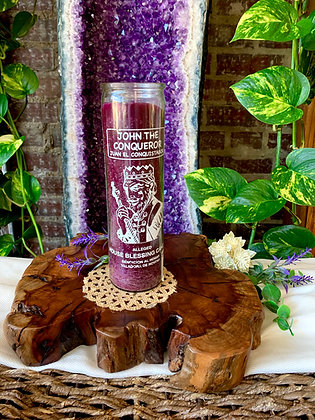 High John the Conqueror House Blessing Seven Day Prayer Candle (Purple)