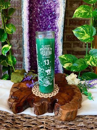 Money Drawing Seven Day Spell Candle (Green)