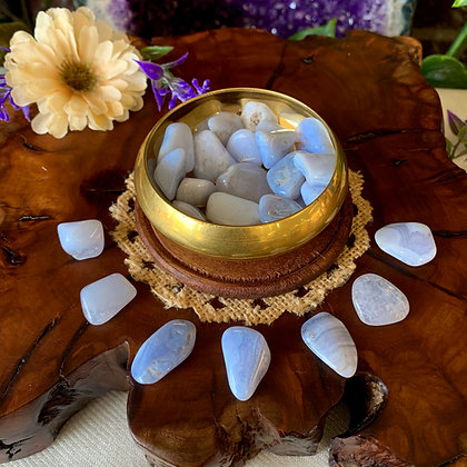 Blue Lace Agate Tumbled Stones (Small)
