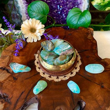Blue Opal Tumbled Stones