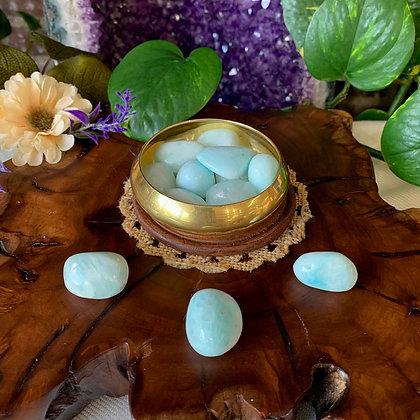 Blue Aragonite Tumbled Stones