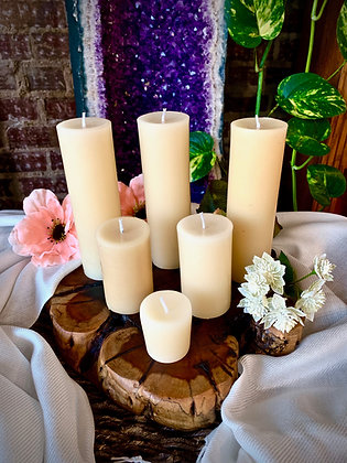 Stone Age Unscented Beeswax Candles