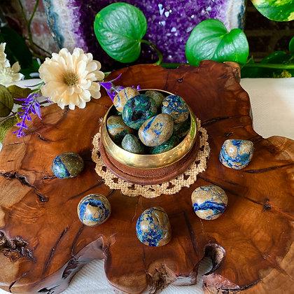 Azurite-Malachite Tumbled Stones