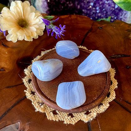 Blue Lace Agate Tumbled Stones (Large)