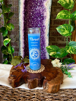 Throat Chakra Seven Day Candle (Light Blue)