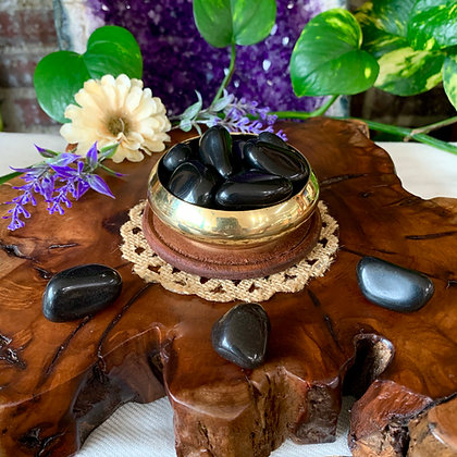 Black Onyx Tumbled Stones
