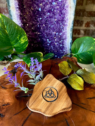 Triquetra Wooden Incense Burner