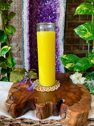 Yellow Seven Day Candle