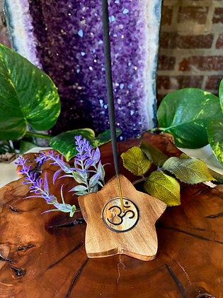 Om Wooden Incense Burner