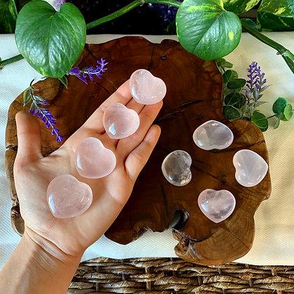 Rose Quartz Heart Shaped Crystals