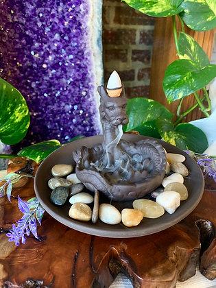 Chinese Dragon Ceramic Backflow Incense Burner