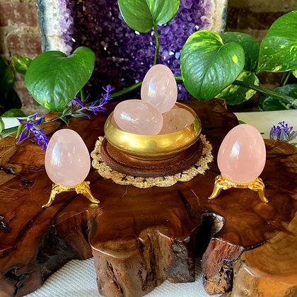 Rose Quartz Crystal Eggs