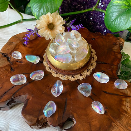 Angel Aura Quartz Tumbled Stones