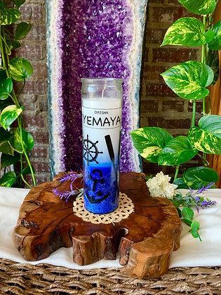 Orisha Yemaya Seven Day Candle (White + Blue)