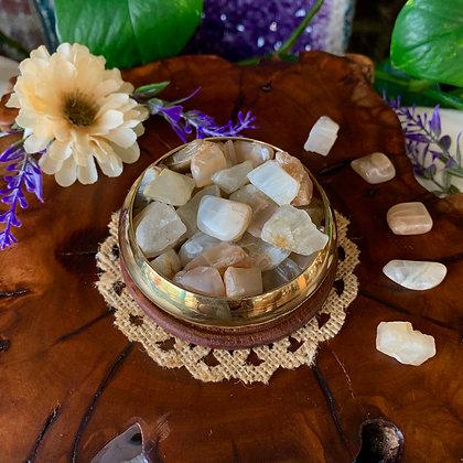 White Moonstone Tumbled Stones
