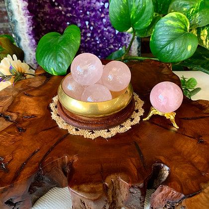 Rose Quartz Spheres (Large)