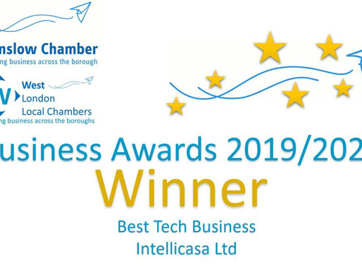 IntelliCasa Winner of Best Tech Business 2019/2020!