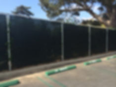 95% shade factor green fence screen